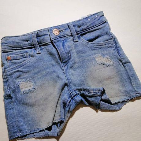 Джинсовые шорты H&M на девочку 3-4 года