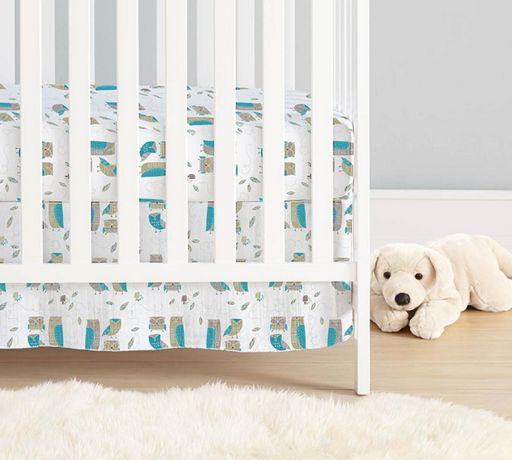 Муслиновый подзор юбка для детской кроватки Aden Anais