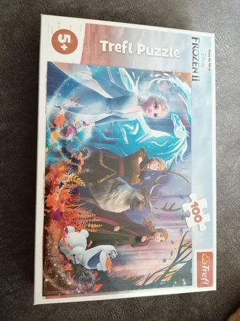 Nowe Trefl Frozen Kraina Lodu puzzle 100 szt.