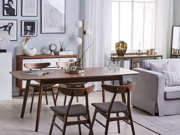 Mesa de jantar extensível castanha escura 120/150 x 75 cm MADOX - Beliani