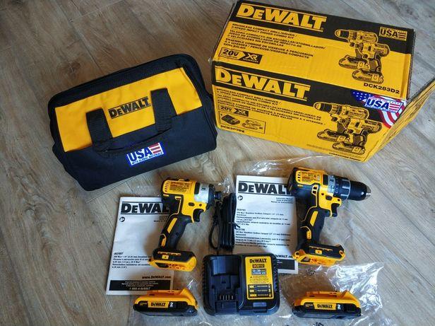 Набор Dewalt 20v шуруповерт импакт DeWalt DCK283D2 (DCD791 DCF887)
