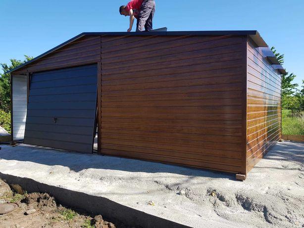 Garaże drewnopodobne 6x6 profil zamknięty