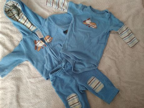Polarowy komplet 3czesciowy, dres + body