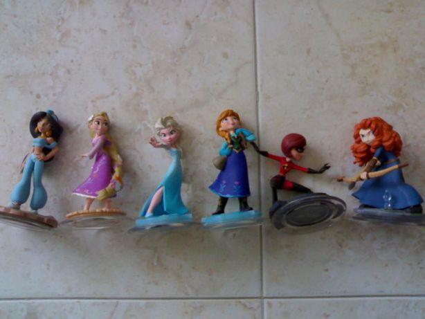 Playset 6 princesas da disney pro jogo infinity ps3 wii xbox ps4