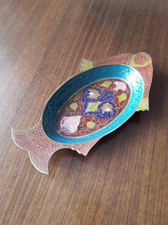 Сувенир Рыбка-конфетница металлическая