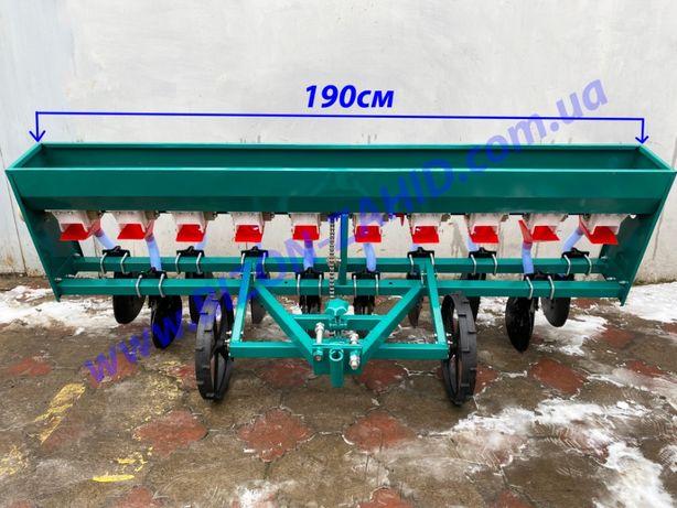 Зернова сiвалка 10 рядна для мототрактора та трактора, сеялка зернова