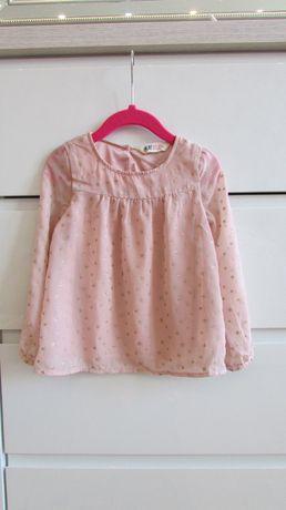 Pudroworóżowa wiosenna bluzka H&M rozm. 104