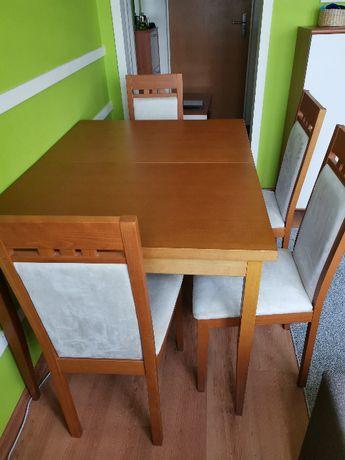 Rozkładany stół + 4 krzesła