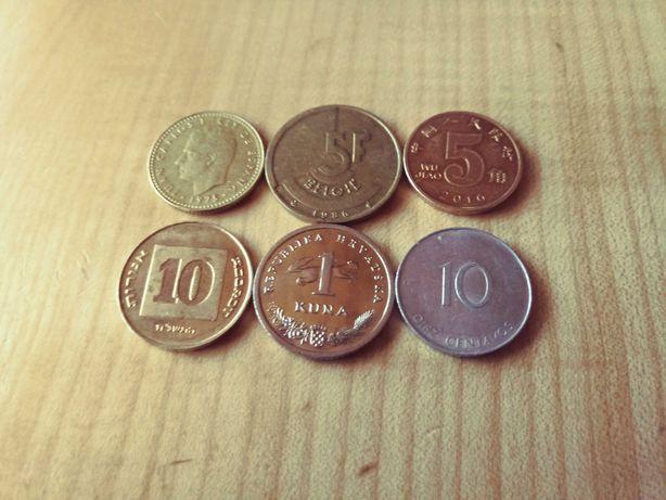 Monety kraje rozne.