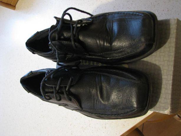 Wizytowe czarne buty dla chłopca rozm.37