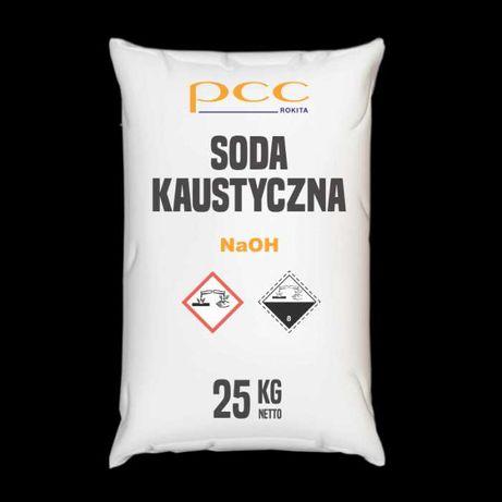 Soda Kaustyczna płatki, Wodorotlenek Sodu 25 kg