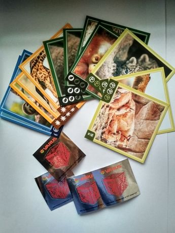 Карточки наклейки  зверокуб Варус Varus 18шт