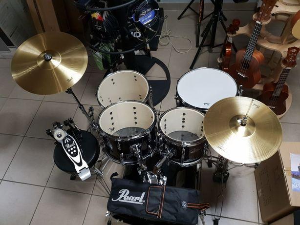 Nowa perkusja Pearl kompletny zestaw z talerzami sklep Pszczyna
