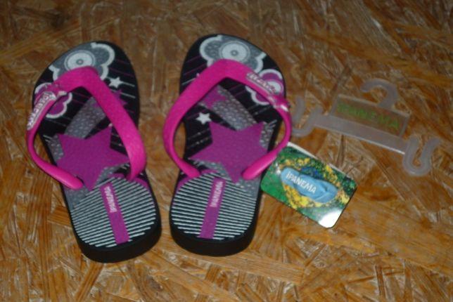 Klapki/Japonki dziewczęce Ipanema – rozm 29/30 – czarny/różowy