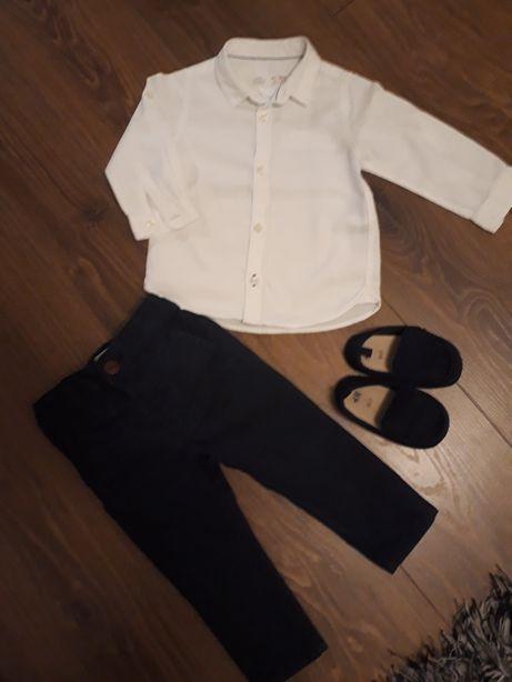 Zestaw dla chlopca na chrzest święta Zara Next H&M r. 86