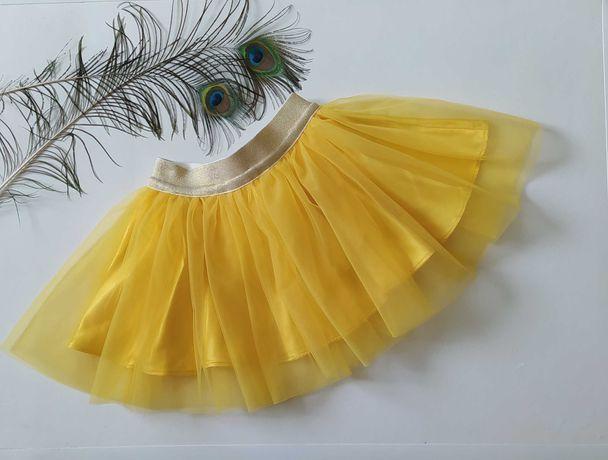 юбка детская из еврофатина цвет желтый нарядная праздничная на подарок