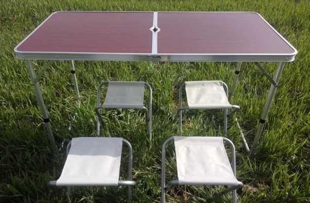 розкладний алюмінієвий стіл в валізі 4 стільці
