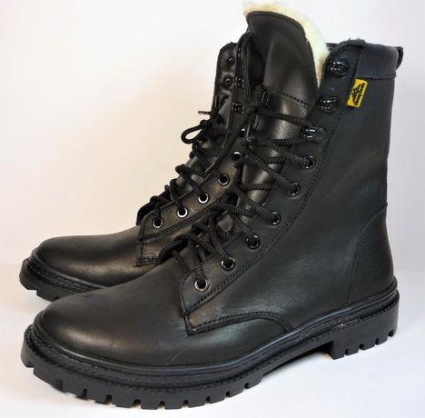 Берцы Берці ботинки зимние на меху кожаные быстрая шнуровка Нато