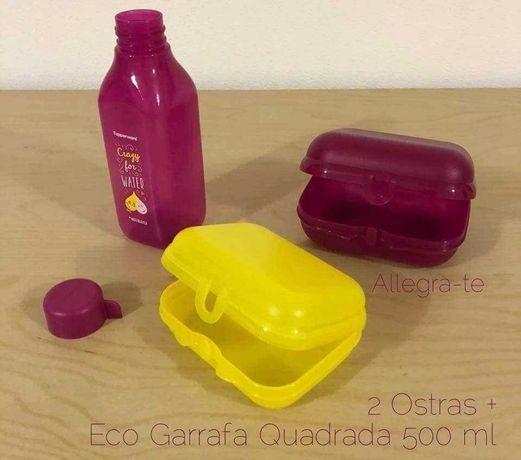 Garrafa Rosa 500ml + 2 Ostras Tupperware