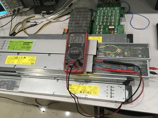 Распаяны блоки питания HP 2450w желтые и зеленые под все карты
