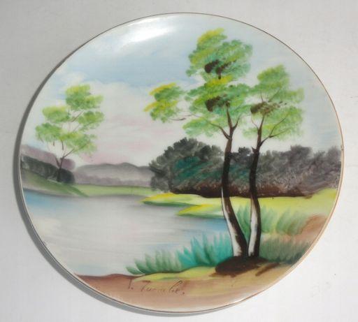 Talerz obraz porcelanowy dekoracyjny 15,8cm