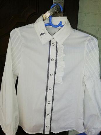 Школьная блуза, белая блузка, школьная рубашка, блузка для девочки
