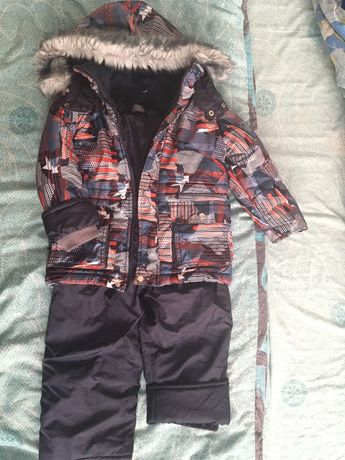 Зимний костюм, куртка и полукомбинезон