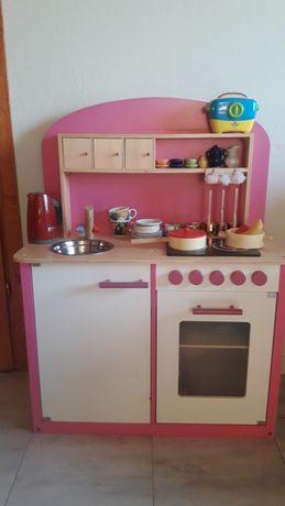 Kuchnia drewniana + akcesoria.