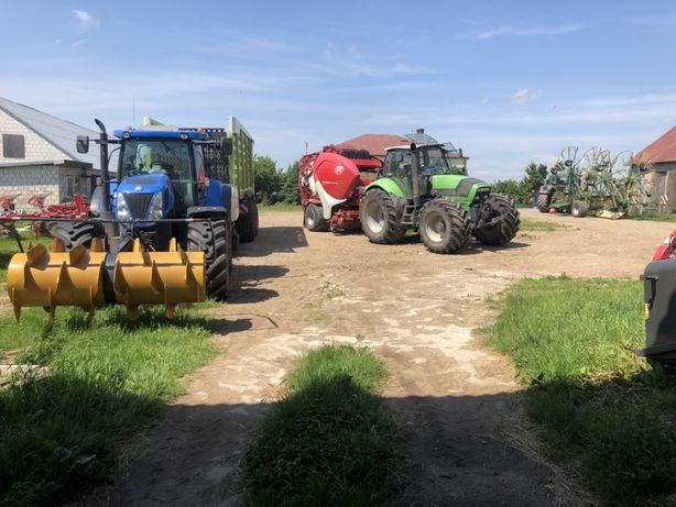 Zbiór traw CLAAS CARGOS Wywóz obornika usługi rolnicze Belowanie lely