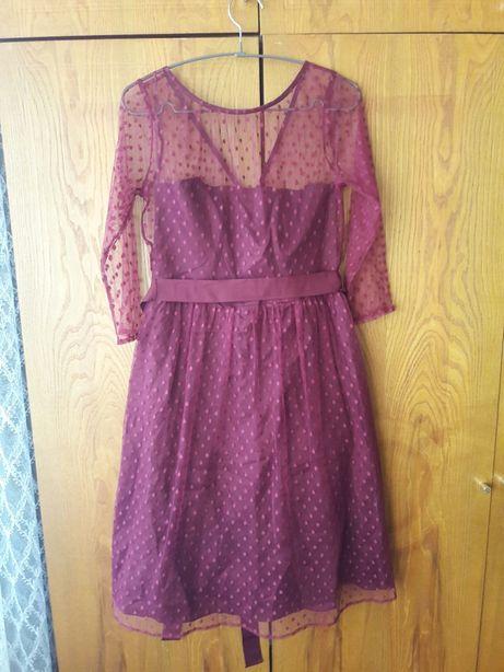Новое платье Dickins&Jones бордового цвета р.С