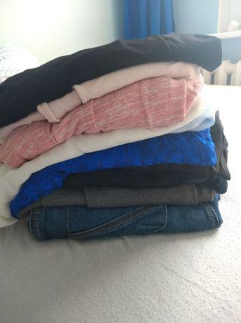 Odzież ciążowa spodnie legginsy, bluzki 38-40-42