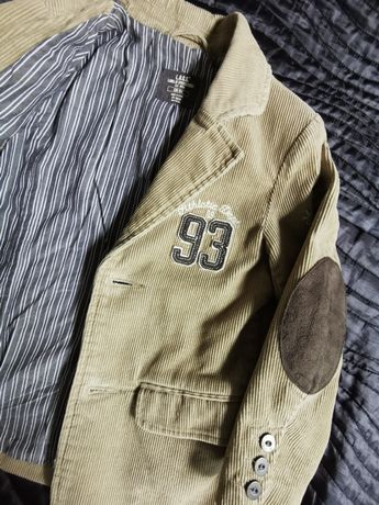 Marynarka H&M  rozm. 104 sztruksowa