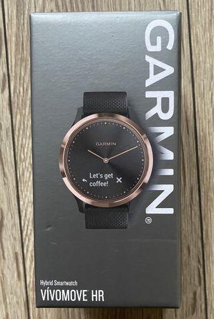 Zegarek smartwach garmin vivomove hr czarny złoty