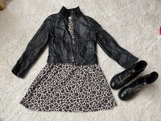 Sukienka, kurtka, buty