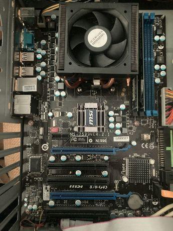 Płyta z procesorem, Phenom II X4 965BE+Płyta MSI 870G45+8GBRam,