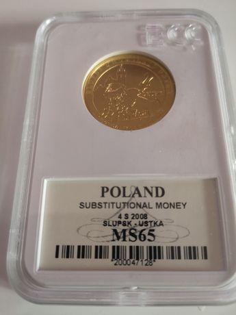 Moneta 2 zł Słupsk 2008 w Gradingu