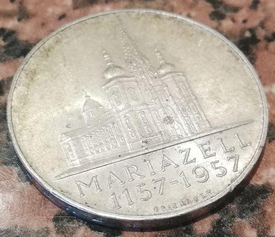 Austria 25 Schilling 800 lat MARIAZELL srebro 0.800 25 szylingów 1957