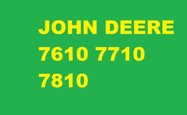John Deere 7610 , 7710 , 7810 serwisowa instrukcja napraw ! serwisowa