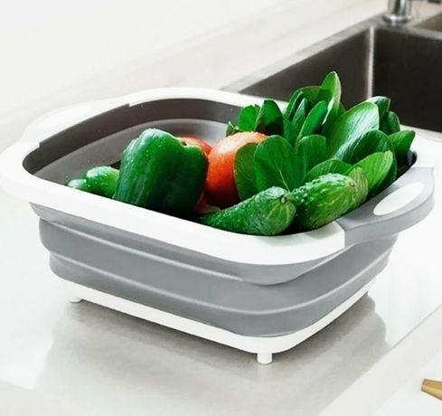 Складная 3в1 миска доска разделачноя для кухни