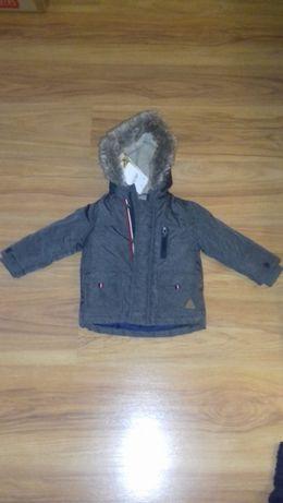 nowa kurtka chłopięca na kożuszku rozmiar 80