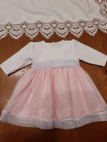 komplet do chrztu ubranko  62 dla dziewczynki Sukienka + Bolerko