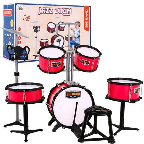 Mega Perkusja 5-bębnowa Talerz Stołek dla dzieci