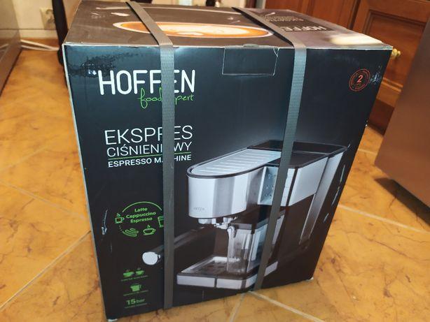 Ekspres do kawy Ciśnieniowy Hoffen NOWY - Gwarancja Pojemnik na mleko