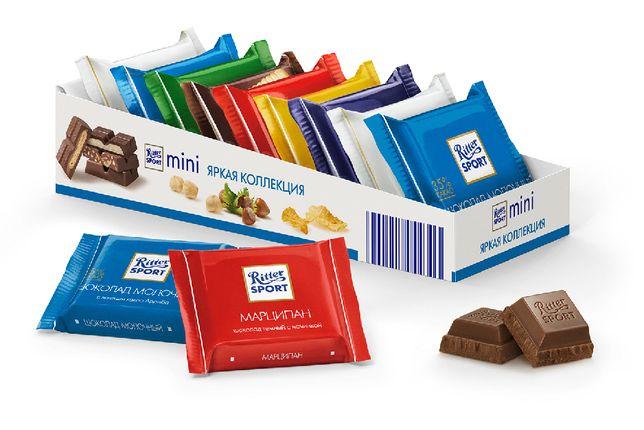 Набор Шоколадок Ritter Sport mini 150г. Арт 02327