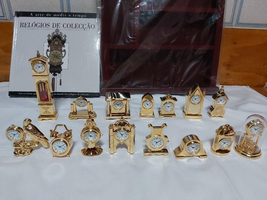 Relógios miniatura - 15 relógios, móvel, guia e manual de instruções