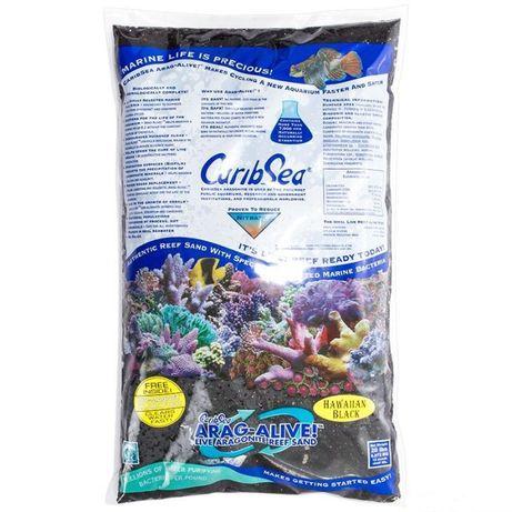 Żywy piasek CaribSea Arag-Alive Havaiian Black 9kg akwarium morskie