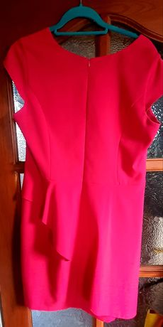 Sukienka malinowa, na wesele, sylwester, chrzciny, komunie, elegancka