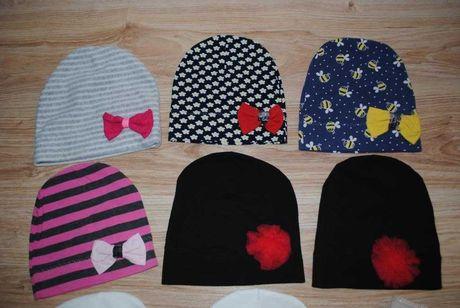 67-> bawełniana czapka czapeczka smerfetka ob 48-52cm