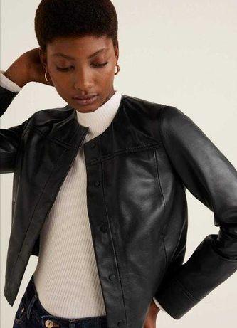 Косуха куртка Zara Mango натуральная кожа разммер M