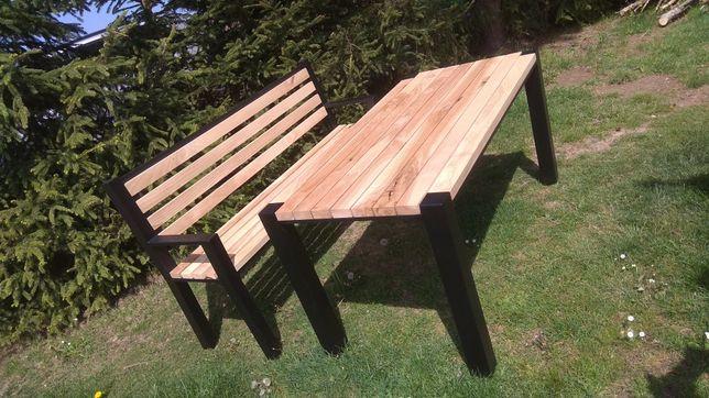 Meble ogrodowe komplet na zamówienie stół ława krzesła